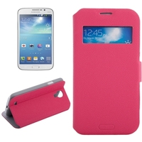 Trade assurance supplier leather window case for Samsung galaxy s4 phone case