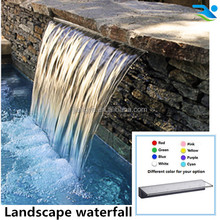 swimming pool led water foutain /outdoor pond LED light waterfalls decoration