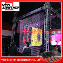 stage used led curtain display video screen/ rgb glass window display