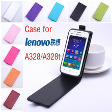2015 Hot Selling Nine colors Leather Flip Case For Lenovo A328 A328T