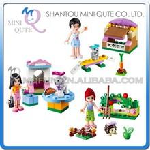 Mini Qute Senye 3pcs/set plastic kawaii friends girls kids models gift building block action figures educational toy NO.SY 152