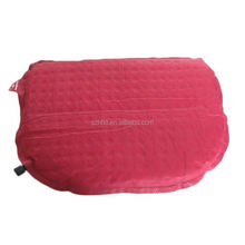 red Travel Pillow for Car, Airplane or Lumbar Support,self inflating air bed pillow