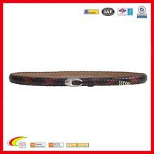 2015 New Design Wholesale Leather Multi-Brown Snake Belt For Men