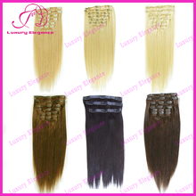 8 - 30 Inch Colour Cheap 100% Brazilian Human Hair Clip In Hair Extensions Factory Wholesale