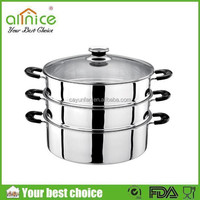 3 layers stainless steel steamer/large stainless steel cooking pot/steamer pot for hotel