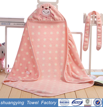 china supplier 83*83cm custom embroidery 100 cotton hooded towel