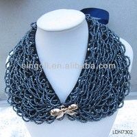 Best factory price Large wholesale Plastic plating beads necklace