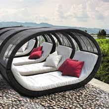 rattan day bed with sunshade BG-P33