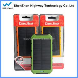 10000mah Portable Mini Solar Panel for Mobile Phone with Dual USB Output