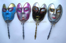 wholesale cheap face mask carnival sex mask with stick MSK168