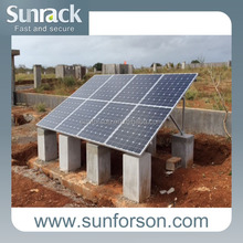 photovoltaic mounting panel solar frame for ground