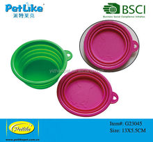 Soft Silicone collapsible Pet Travel Bowl Pet travel Products