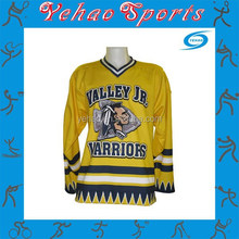 Custom Made 100% Micro Polyester 180-220gsm US Sizing High Full Sublimation ICE Hockey Jersey with Player Name,Number