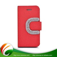 Samples Are Available Customized Logo Flip Leather Window View Leather Phone Case For Iphone 6