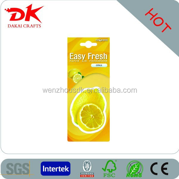 2013 newly Car Paper Freshener for promotion