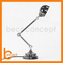 67CM Wrought Iron Retro Nickel Plated Adjustable Table Lamp