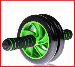 wholesale ultra-silence dual wheel exercise foam handle ab roller from chinese supplier