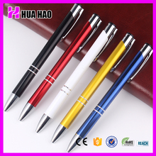 China School Suppliers Wholesale Promotion Ball Pen with logo Office Supplies Custom Metal Pen for Promotion