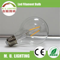 bulb lights led, Fluorescent lamp replacement halogen, G95 2w led filament lighting