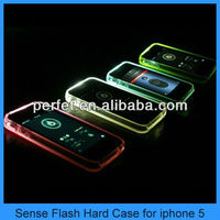 sense light led flashing phone case cover for iphone 5 iphone 5s