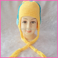 handmade crochet photography props knitted winter cartoon hats