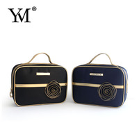 2015 Wholesale fashion custom satin hanging makeup gift pouch cosmetic bag for promotion