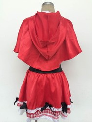 Instyles Walson little girl deluxe red ridding hood costume girls outfit