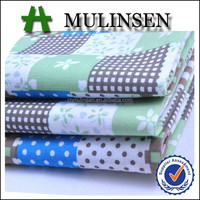 Mulinsen Textile Plain Woven Floral and Dots Printed 80/20 TC Polycotton Fabric for Children Clothing