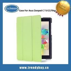 High quality 3 Folding Flip Stand PU Leather Case for Asus ZenPad C 7.0 Z170CG