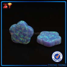 New fashion christmas present, lab created opal cobochon for 925 silver jewelry