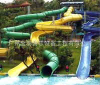 [Long] Long enclosed spiral high-speed water slides water park play equipment well-known brand manufacturers