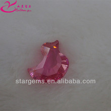 High quality pink fancy bird shape cubic zirconia earrings for wholesale