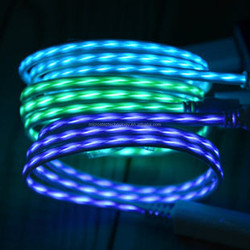 EL New Technology Micro USB Glow Charger Cable
