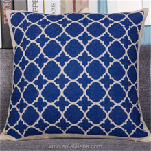 Wholesale hot selling blue honeycomb simple pattern home fashions international invisible zipper pillow