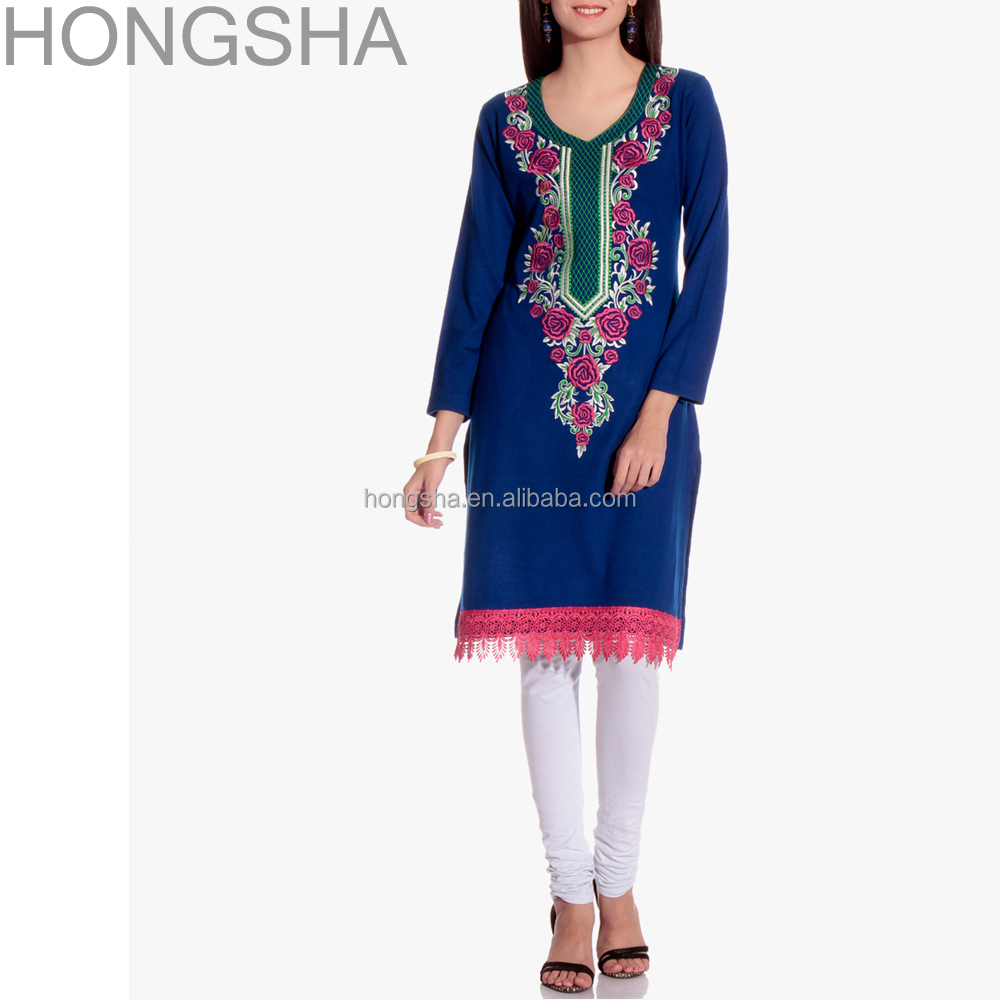 The gallery for gt simple hand embroidery designs kurtis