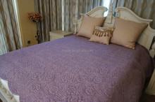 Purple Lace Quilt. Home Garden Bedspread