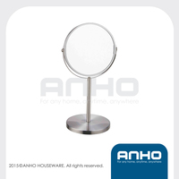 D17cm double-sided stainless steel vanity mirror