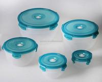 220ml 500ml 1.0l 2l 3.3l plastic bpa free transparent vacuum food container,set of 5