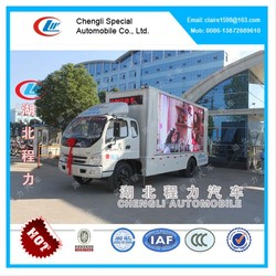 Foton Outdoor Mobile LED Display Truck, led advertising truck