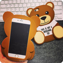Fancy 3D soft silicon phone case carton cute case for iPhone 6s