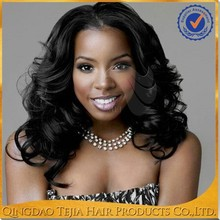 Natural Looking Natural wave good quality wavy hair full lace human hair wigs for black women
