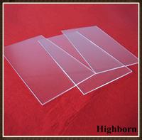 clear square borosilicate glass sheet