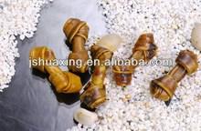 dog chew: smoked&basted rawhide knotted bone