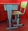 single leg cheap adjustable school desk and chair/used classroom furniture