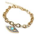 Encanto plateado 2013gold y eslabón de la cadena, colgante mal de ojo con joyas pulsera de perlas ctystal y acrílico, aleación,