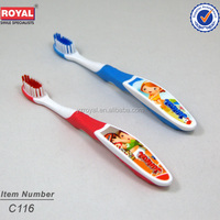 kids model toothbrush printed pictures in handle