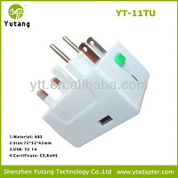 universal plug with USB can used for 150 countries USB travel adapter plug
