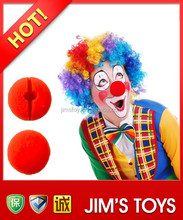 Red Clown Nose Sponge Clown Nose Party Sponge Clown Nose
