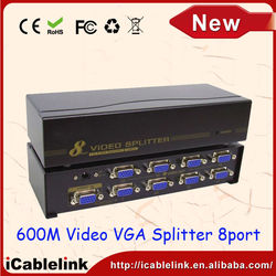 15pin DUAL DISPLAY MONITOR VGA SPLITTER WITH 8 OUTPUT for Laptop Computer Smart TV Video Share