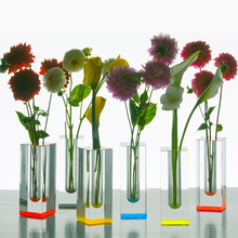 Cheap Customized acrylic vase /tall vase/different types glass vase
